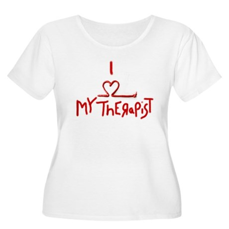 my therapist Women's Plus Size Scoop Neck T-Shirt