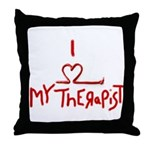 my therapist Throw Pillow