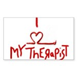 my therapist Rectangle Sticker