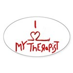 my therapist Oval Sticker (50 pk)
