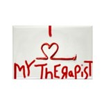 my therapist Rectangle Magnet (100 pack)