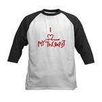 my therapist Kids Baseball Jersey