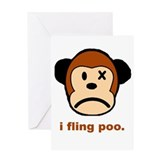 Monkey Poo Greeting Card
