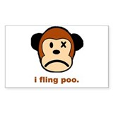 Monkey Poo Rectangle Sticker 10 pk)