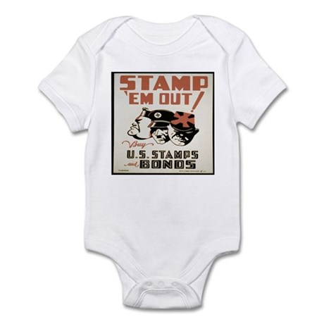 Vintage WW I WAR Bond Print Infant Bodysuit