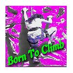 Born To Climb Tile Coaster
