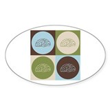Neuroscience Pop Art Oval Sticker (50 pk)