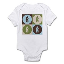 Mountain Biking Pop Art Infant Bodysuit