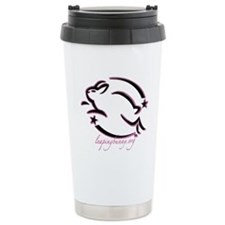 Leaping Bunny Outline (Ceramic Travel Mug)