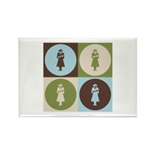 Midwifery Pop Art Rectangle Magnet