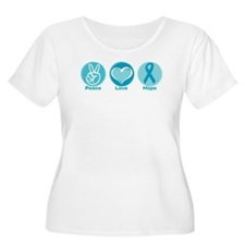 Peace Love Teal Hope T-Shirt