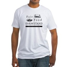 Fair Food Farmstand fitted t-shirt (white)