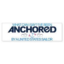 Anchored (Sailor) Bumper Car Sticker