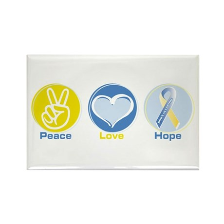 Peace Love Down syn hope Rectangle Magnet (10 pack
