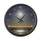 As the Sun Sets Large Wall Clock