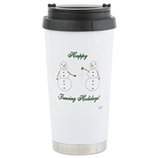 Fencing Holiday Ceramic Travel Mug