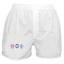 Peace Love Bl Pk Hope Boxer Shorts
