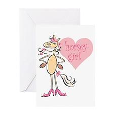 Horsey Girl Greeting Card
