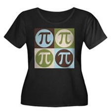 Math Pop Art Women's Plus Size Scoop Neck Dark T-S