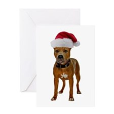 Pit Bull Christmas Greeting Card