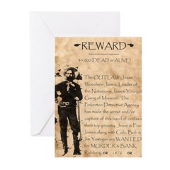 Jesse James Greeting Cards (Pk of 20)