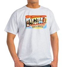 Williston North Dakota Greetings (Front) T-Shirt