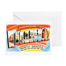 Williston North Dakota Greetings Greeting Cards (P