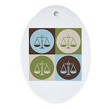Law Pop Art Oval Ornament
