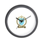 LACASSE Family Crest Wall Clock