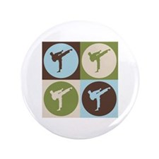"Karate Pop Art 3.5"" Button (100 pack)"
