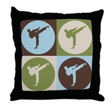 Karate Pop Art Throw Pillow