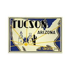 Tucson; Sunshine City Rectangle Magnet (100 pack)