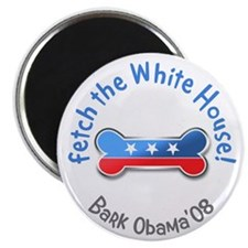Bark Obama Fetch the White House Magnet (10 pack)
