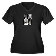 Unique X ray Women's Plus Size V-Neck Dark T-Shirt