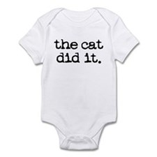 The Cat Did It Infant Bodysuit