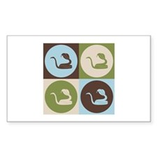 Herpetology Pop Art Rectangle Sticker 10 pk)