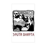 South Dakota Mount Rushmore Rectangle Decal