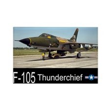 F-105 Thunderchief Fighter Bomber Rectangle Magnet