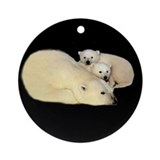 POLAR BEAR MOM AND CUBS Ornament (Round)