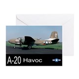 A-20 Havoc Bomber Greeting Cards (Pk of 20)