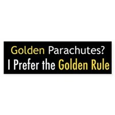 Golden Parachutes Bumper Sticker (10 pk)