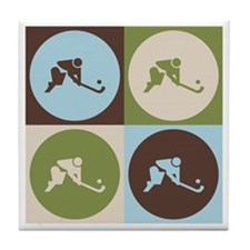 Field Hockey Pop Art Tile Coaster