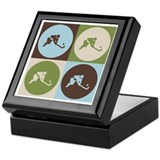 Field Hockey Pop Art Keepsake Box
