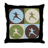 Fencing Pop Art Throw Pillow
