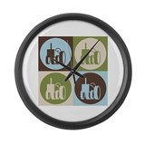 Farming Pop Art Large Wall Clock