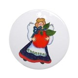 Angel Holding Apple Keepsake Ornament
