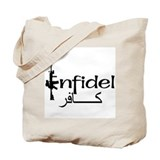 English Arabic Infidel Tote Bag