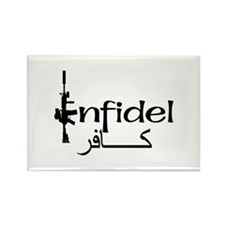 English Arabic Infidel Rectangle Magnet
