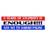 Stupidity Bumper Bumper Sticker
