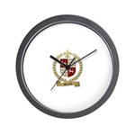 DOUCETTE Family Crest Wall Clock